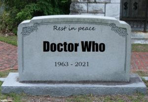A picture showing the tombstone of Dr Who